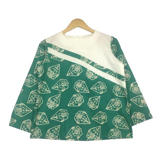 atasan blouse batik lengan panjang - aster blouse
